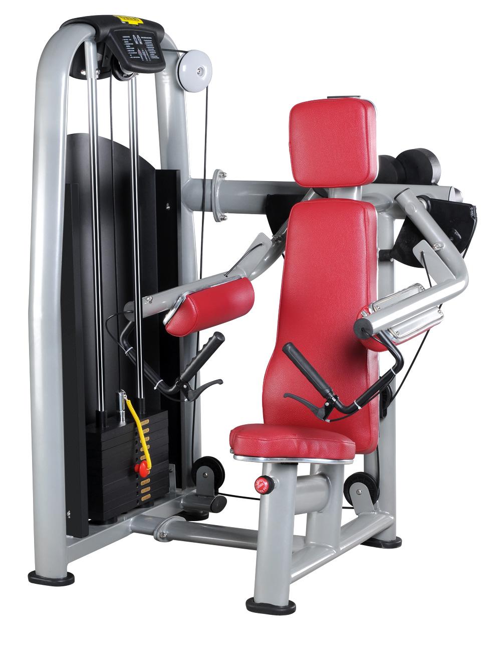 康宜坐姿提肩训练器,健身器材工厂家,商用健身房运动器械,豪华健身房专用健身器械
