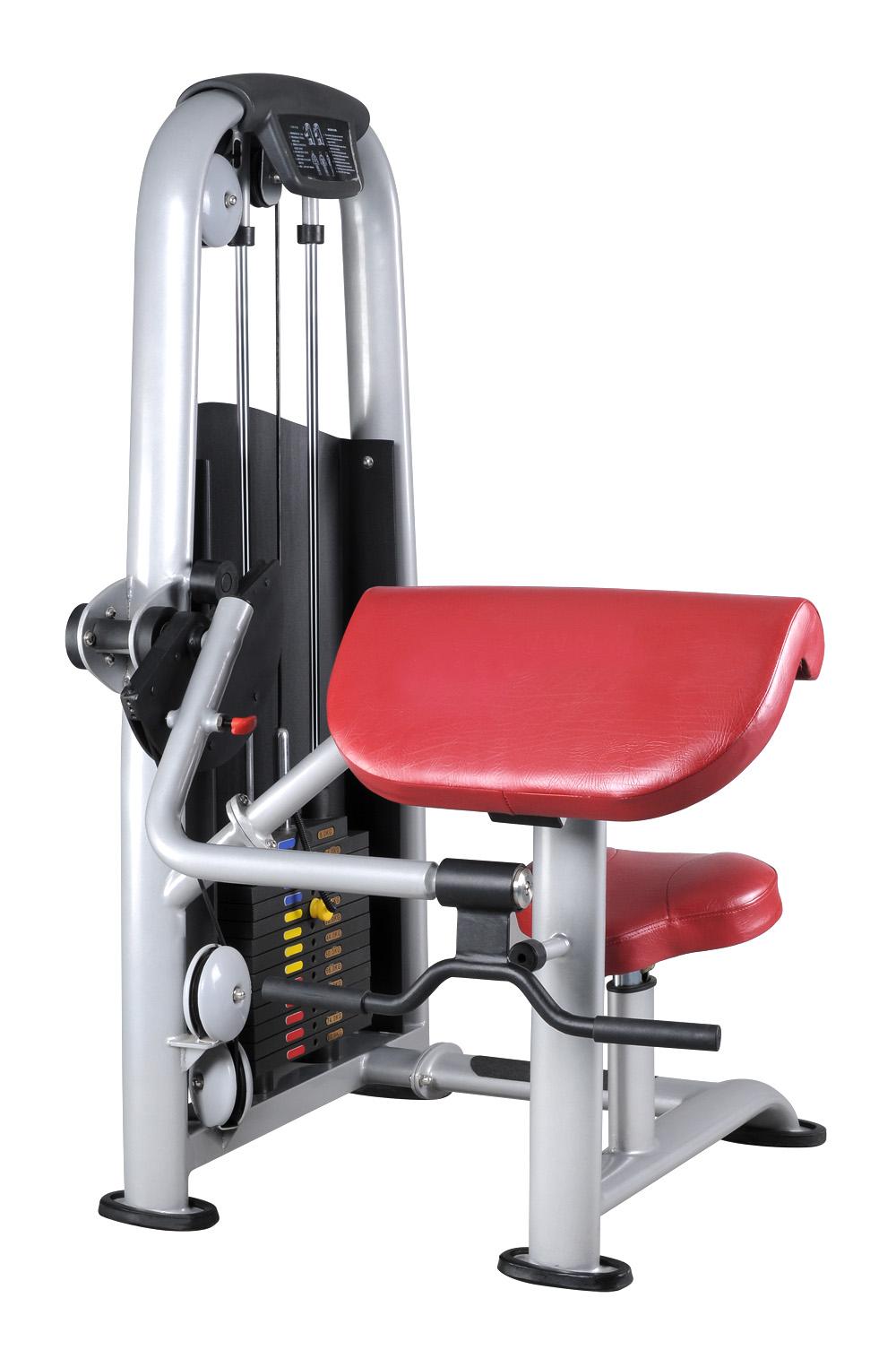 商用力量健身器材厂家,二头肌训练器,康宜健身器材厂家直销