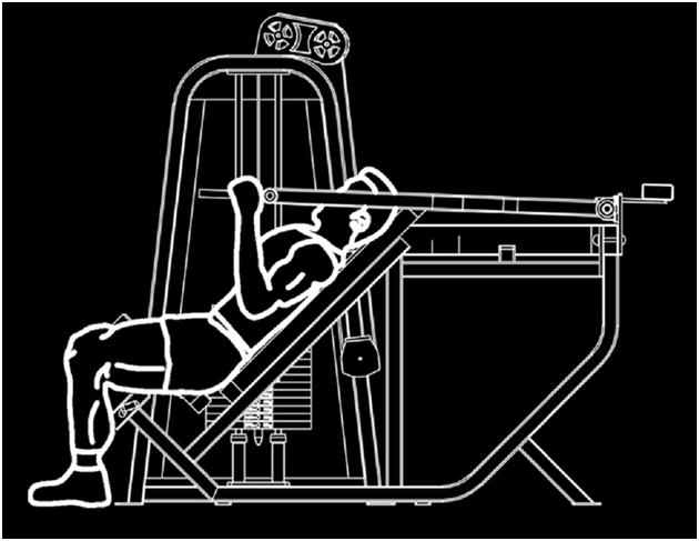 上斜推胸训练器 力量健身器材厂