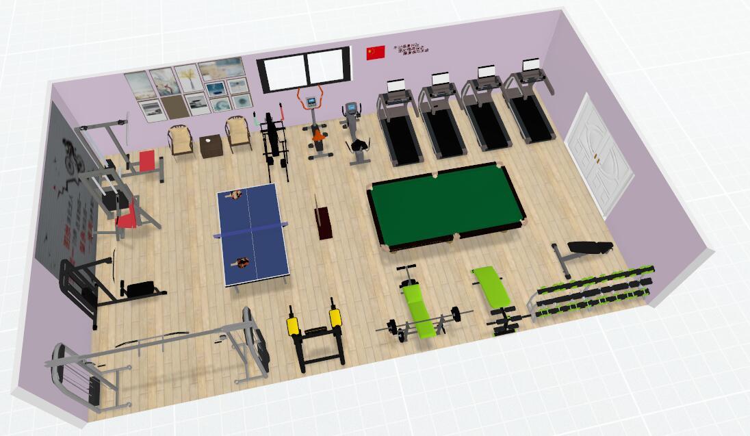 企事业单位员工健身房